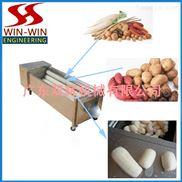 小型毛刷洗菜机,土豆清洗机,地瓜清洗机,生姜清洗机,淮山清洗机,红薯清洗机,鲜虾清洗机