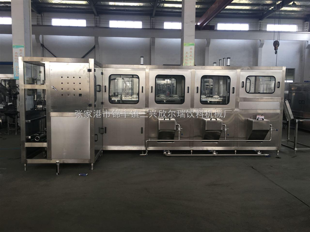 桶装水生产线的工作过程以及操作步骤