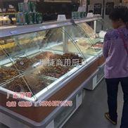 厂家直销双面开推拉门熟食保鲜展示柜,常温柜,加热柜
