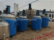 95成新二手1立方-50立方不锈钢反应釜、1吨-30吨搪瓷反应釜