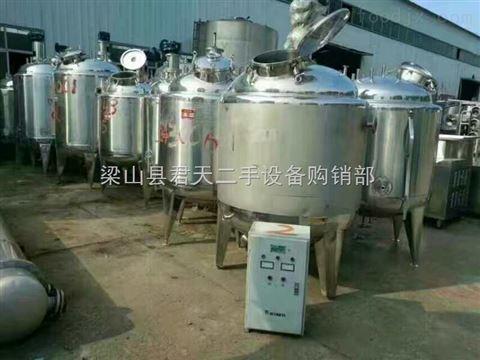 转让二手1000L不锈钢配料罐、搅拌罐、稀配罐、精炼罐