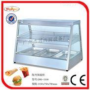 杰冠+双层陈列保温柜/快餐设备/美式快餐设备/炸鸡陈列柜