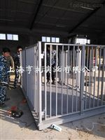 2X3m牲畜电子磅秤厂家 2吨称猪电子地磅 南宁3T带围栏畜牧称