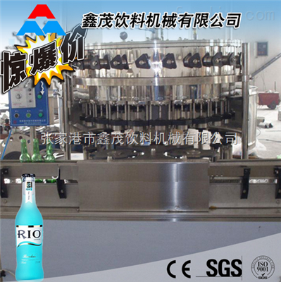 厂家直供玻璃瓶含气饮料灌装生产线