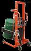 液压堆高车油库搬运油桶350kg手动倒桶秤电子称
